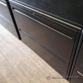 """36"""" Haworth Charcoal 2 Drawer Lateral File Cabinet"""