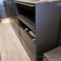 Haworth Charcoal 4 Drawer Flip Front Lateral Storage Cabinet