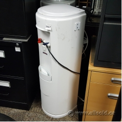 White OmniPure InLine Water Dispenser w/ Hot and Cold Taps