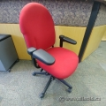 Red Fabric Steelcase Turnstone Office Chair