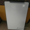 """Steel Magnetic Whiteboard 36"""" x 24"""" with Marker Tray and Hooks"""