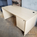 "Blonde Straight Desk with 2 Drawer Pedestal Storage 60"" x 30"""