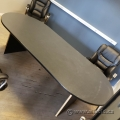 8ft Grey Boardroom Racetrack Table Surface w/ Black Trim no Base