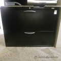 Black Grand & Toy Locking 2-Drawer Lateral Filing Cabinet