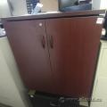 Mahogany 2 Door Storage Cabinet w/ Shelves