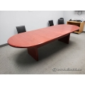 Mahogany Racetrack 10 Foot Boardroom Table