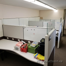 White Herman Miller Systems Furniture Cubicles Workstation