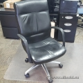Black Leather Chrome Base Harter Jammi Office Task Chair