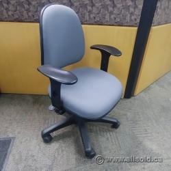 Haworth Grey Fabric Adjustable Office Task Chair