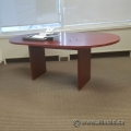 Mahogany Oval 5 Foot Meeting Racetrack Table