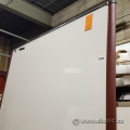 Magnetic Whiteboard with Cherry Wood Trim Finish 96""