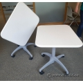 White Steelcase Au Lait Rolling Folding Nesting Table