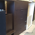 Black Teknion 5 Drawer Lateral File Cabinet