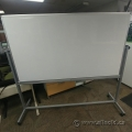 Rolling Reversible Double Sided Magnetic Whiteboard 72""