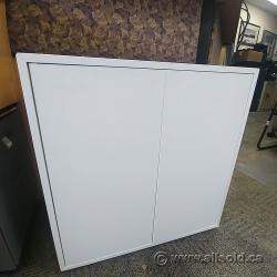 "White Ikea EKET 2 Door Cabinet 27.5"" Tall"