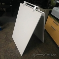 White Plywood A-Frame Double Sided Sandwich Board Display Sign