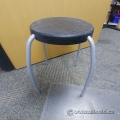 "Black Ikea Children Size Stool 17.5"" Height"