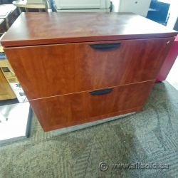 Cherry Wood 2 Drawer Lateral Filing Cabinet SND