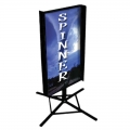 Black Wind Spinner Sidewalk Display Sign