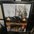 """Homes By The River"" Framed Wall Art Picture"