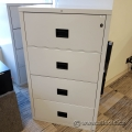 Hon Off White 4 Drawer Fire Resistant Lateral File Cabinet