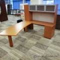 Birds Eye Maple L Suite With Overhead Storage and Curved Runoff