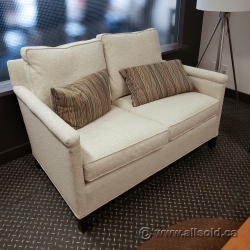 Off White Reception Loveseat Chair