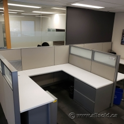 Steelcase U-Shaped Workstations Cubicles Systems Furniture