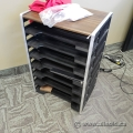 7 Tier Paper/Mail Sorter with Walnut Top