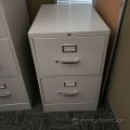 Hon Beige 2 Drawer Vertical File Cabinet