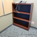 Medium Brown 3 Shelf Bookcase with Adjustable Shelves