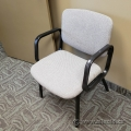 Light Grey Office Guest Chair w/ Fixed Arms