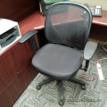 Black Mesh Back Office Task Chair with Adjustable Arms