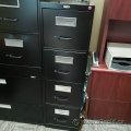 Staples Black 4 Drawer Vertical File Cabinet, Locking