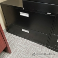 Staples Black 2 Drawer Lateral File Cabinet, Locking