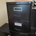 Staples Black 2 Drawer Vertical File Cabinet, Locking
