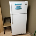 White Frigidaire Fridge w/ Top Load Freezer