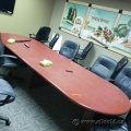 Medium Mahogany Racetrack Boardroom Table 12' x 48""