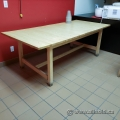Blonde Long Wooden Work Table
