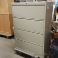 Hirsh Beige 4 Drawer Lateral File Cabinet