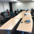 Blonde Modular Boardroom / Training Table w Grey Legs