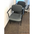 Grey Office Stacking Chair with Black Trim