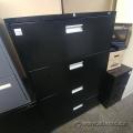 Black Pro Source 4 Drawer Lateral File Cabinet, Locking