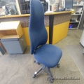 Blue High Back Adjustable Office Task Chair w/o Arms