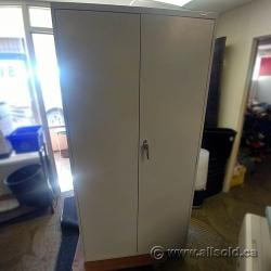 Grey 2 Door Storage Cabinet w/ Adjustable Shelves