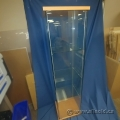 Glass Display Cabinet with Wood Trim