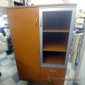 2 Door Storage Display Cabinet with Single File Drawer