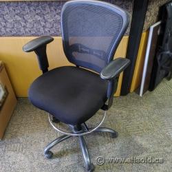 Black Mesh Back Office Drafting Chair