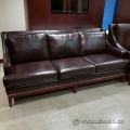 Dark Brown Leather Suite w/ Couch and Two Chairs