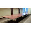 Chrome Framed Medium Maple Boardroom Table 23ft x 6ft